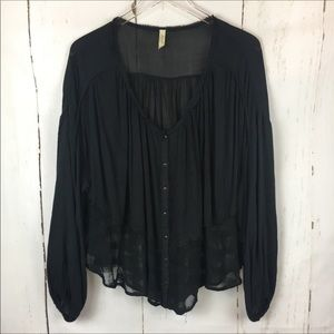 Free People | Button Down Tunic Top